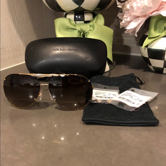 836ee9c25a9 Dolce   Gabbana Accessories - Dolce   Gabbana (DG2075) Gold Brown Sunglasses